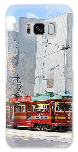 Traditional And Modern Symbols Of Melbourne - Tram And Architecture Galaxy Case