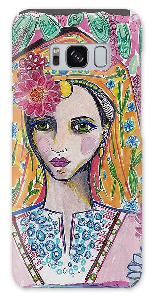 Traditional Bulgarian Folk Girl Galaxy Case