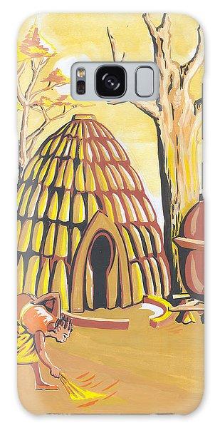 Traditional House Massa Northern Cameroon Galaxy Case by Emmanuel Baliyanga