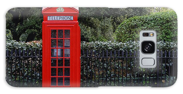 Traditional Red Telephone Box In London Galaxy Case