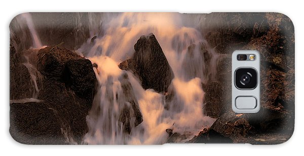 Traditional Waterfall At Sunset Galaxy Case
