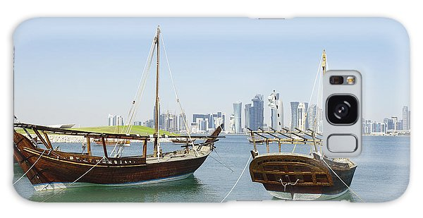 Traditional Wooden Dhows And Doha Skyline Galaxy Case