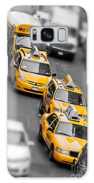 New York City Taxi Galaxy Case - Traffic by Delphimages Photo Creations