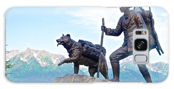Trail Blazers Sculpture For 2012 Iditarod Beginning At Mile 0 In Seward-ak Galaxy Case