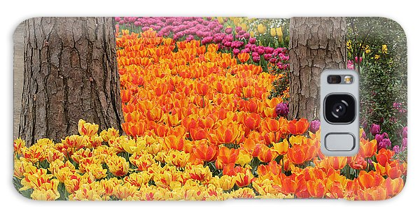 Trail Of Tulips Galaxy Case