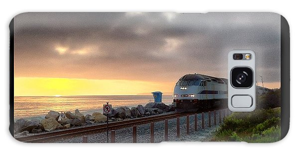 Train And Sunset In San Clemente Galaxy Case