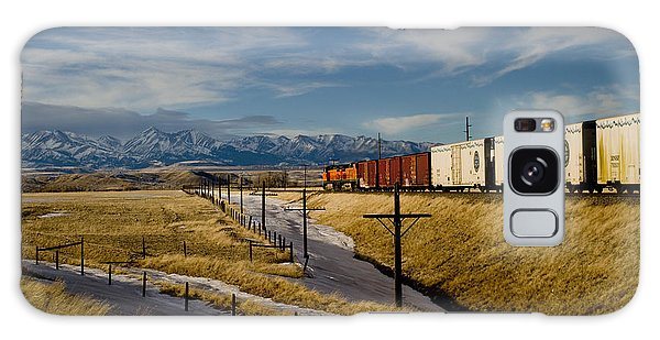 Train And The Crazies By Big Timber Montana Galaxy Case