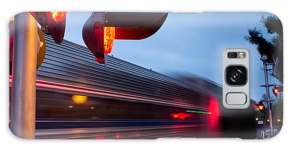 Train Crossing Road Galaxy Case
