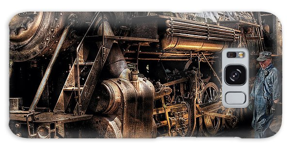Train - Engine -  Now Boarding Galaxy Case by Mike Savad