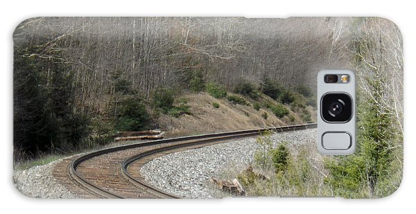 Train It Coming Around The Bend Galaxy Case by Brenda Brown