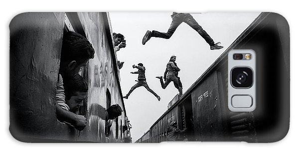 Jump Galaxy Case - Train Jumpers by Marcel Rebro