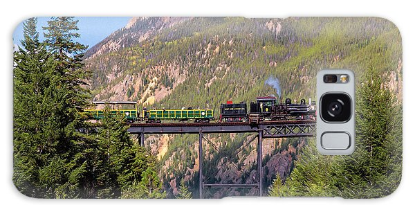Train Over The Trestle Galaxy Case