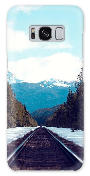 Train To Mountains Galaxy Case by Kim Fearheiley