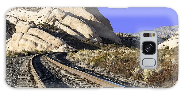 Railroad Tracks At The Mormon Rocks Galaxy Case