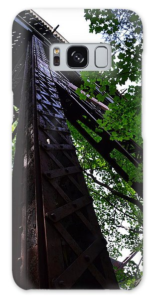 Train Trestle In The Woods Galaxy Case