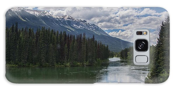 Train Window View Of Lake And Canadian Rockies Galaxy Case by Gerda Grice