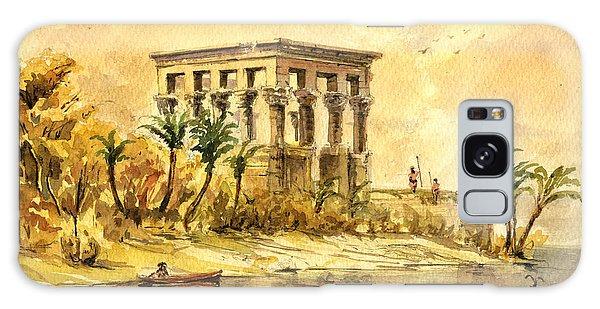 Temple Galaxy Case - Trajan Kiosk Temple Aswan Egypt by Juan  Bosco