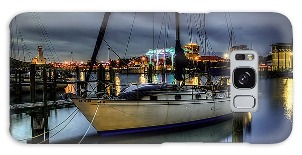 Tranquil Harbour Evening Galaxy Case