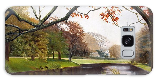 Tranquil Town Pond In East Hampton Galaxy Case by Barbara Barber