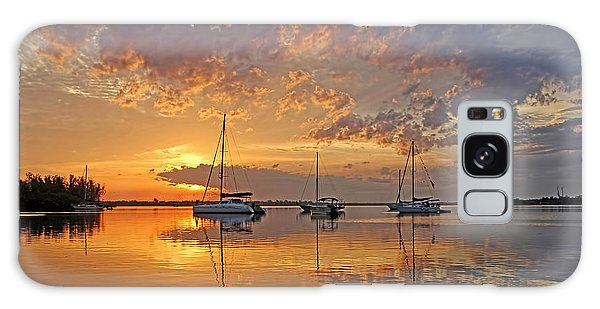 Tranquility Bay - Florida Sunrise Galaxy Case by HH Photography of Florida