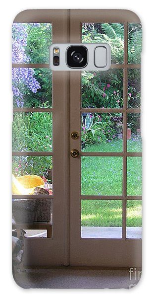 Tranquility Through French Doors Galaxy Case by Bev Conover