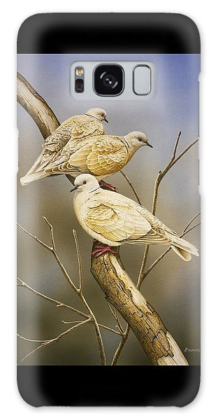 Tranquillity - Ring-necked Doves Galaxy Case by Frances McMahon