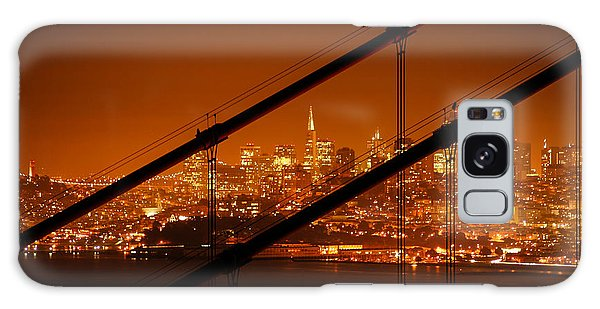 Transamerica Pyramid Seen At Night Galaxy Case by Celso Diniz