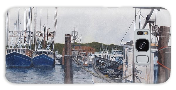 Trawlers At Gosman's Dock Montauk Galaxy Case by Barbara Barber