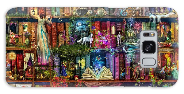 Fairytale Treasure Hunt Book Shelf Galaxy Case