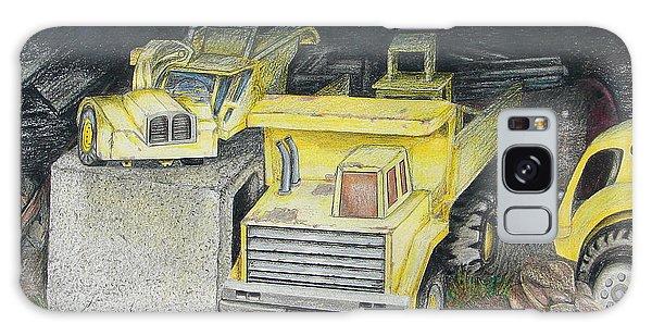 Old Truck Galaxy Case - Treasures Under The Barn by Lew Davis
