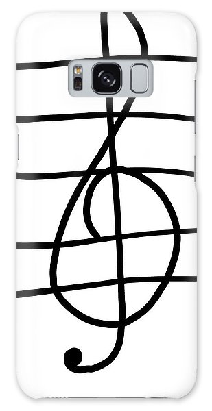 Treble Clef Galaxy Case by Jada Johnson