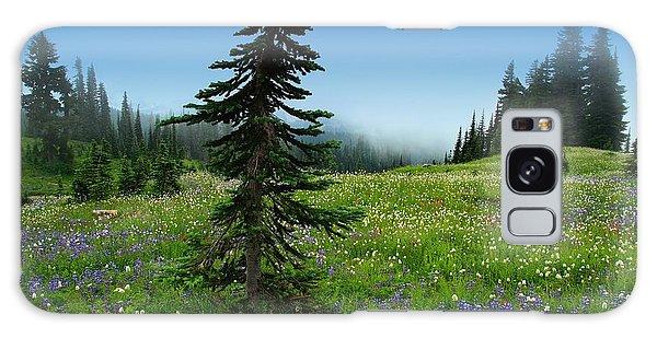 Tree Amongst Wildflowers Galaxy Case by Lynn Hopwood