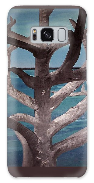 Galaxy Case - Tree And Beach by Joan Stratton