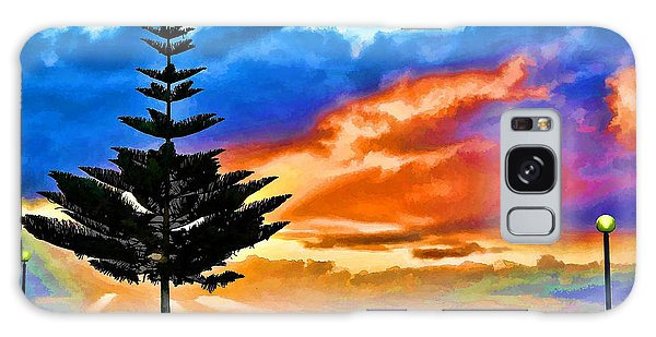 Tree And Sunset Galaxy Case