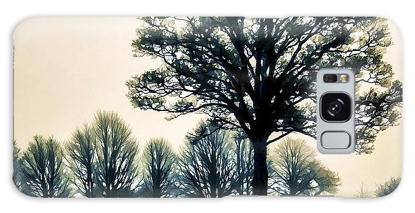Tree At Dawn On Golf Course Galaxy Case