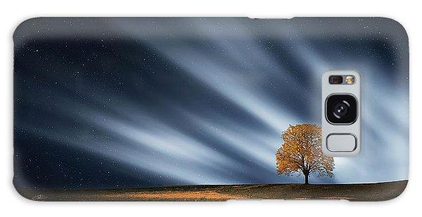 Tree At Night With Stars Galaxy Case by Bess Hamiti