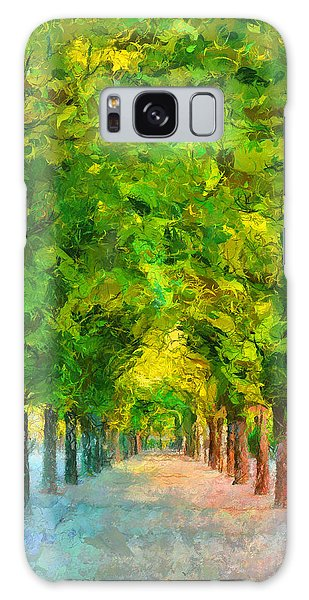 Tree Avenue In The Vienna Augarten Galaxy Case