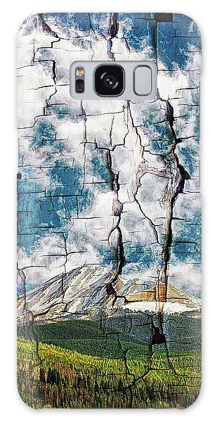 Tree Bark Mountain Tapestry Galaxy Case