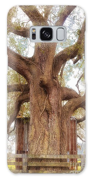 Tree Barn And Fence Galaxy Case