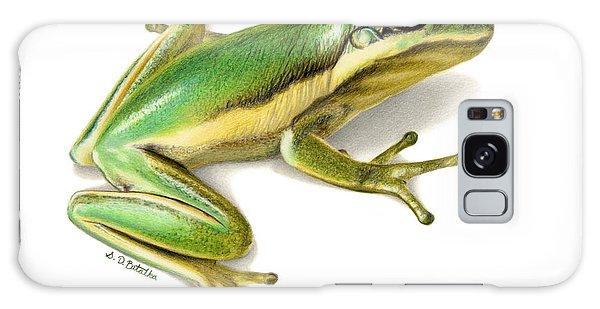 Hyper-realistic Galaxy Case - Green Tree Frog by Sarah Batalka
