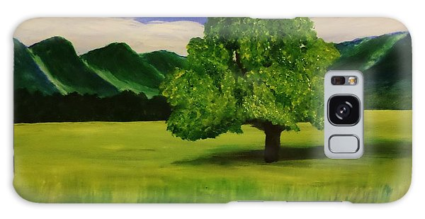 Tree In A Field Galaxy Case by Christy Saunders Church