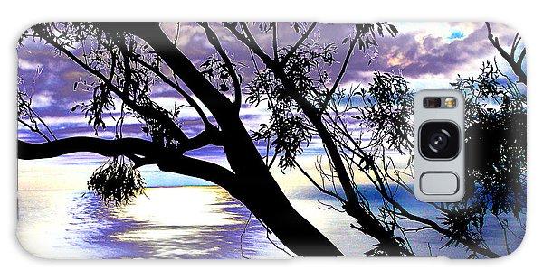 Tree In Silhouette Galaxy Case