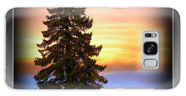 Tree In Sunrise Galaxy Case by Michelle Frizzell-Thompson