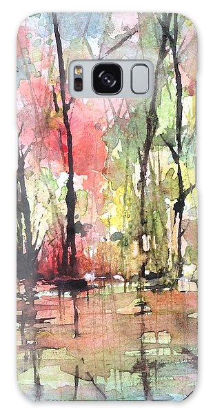 Tree Line Reflections Galaxy Case