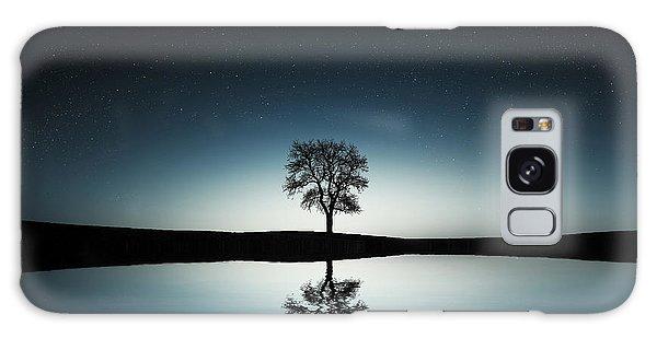 Tree Near Lake At Night Galaxy Case