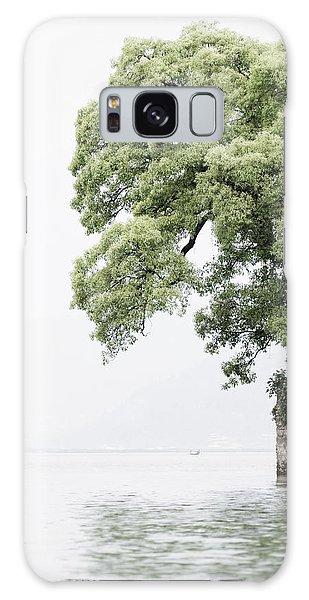 Tree Next To A Lake Galaxy Case