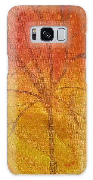 Tree Of Three Gold Galaxy Case by Robin Maria Pedrero