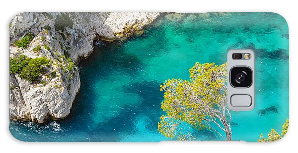 Tree On Turquoise Waters Galaxy Case