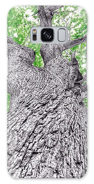 Colours Galaxy Case - Tree Pen Drawing 4 by Remrov