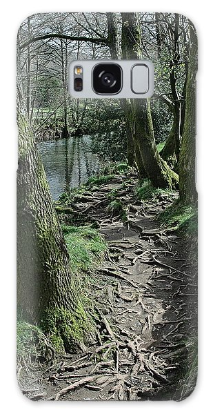 Galaxy Case - Tree Route Pathway by Kathy Spall